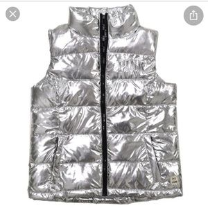 VS PINK Silver puffer Vest